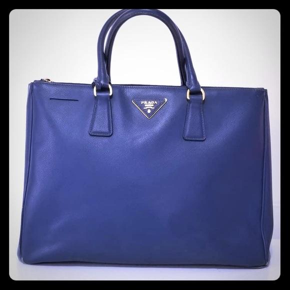 8fb6bff58255 Authentic Prada Saffiano Lux Blue Handbag. M_5c1669a234a4ef336145b8e9